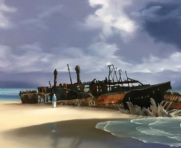 Albatross 2011 15x30 Original Painting - David Fedeli