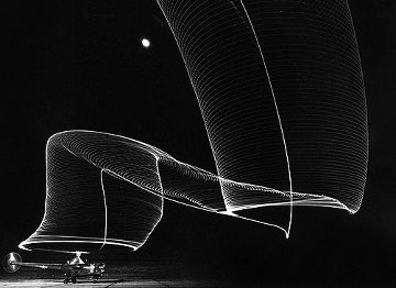 Navy Helicopter Or Pattern By Helicopter Wing Lights 1949 Limited Edition Print - Andreas Feininger