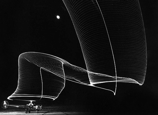 Navy Helicopter Or Pattern By Helicopter Wing Lights 1949 Limited Edition Print by Andreas Feininger