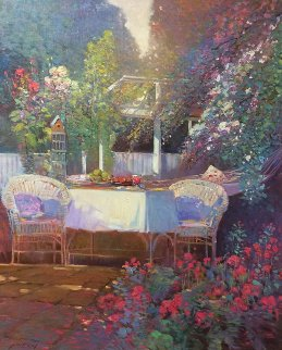 Lazy Afternoon 30x36 Original Painting - Ming Feng