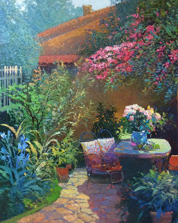 Backyard Retreat 36x30 Original Painting - Ming Feng