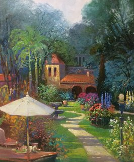 Hidden Hacienda 36x30 Original Painting - Ming Feng