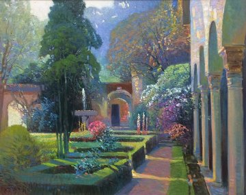 Garden Arches 30x36 Original Painting - Ming Feng