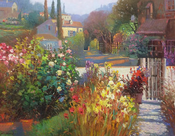 Garden Gateway 30x36 Original Painting - Ming Feng