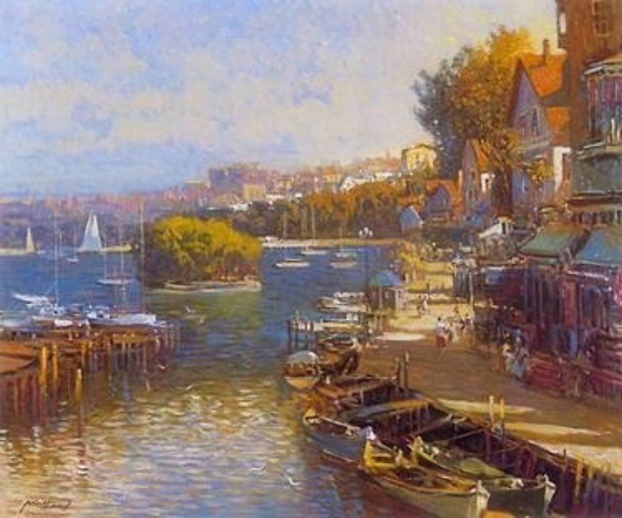 Bayside Village PP Limited Edition Print by Ming Feng
