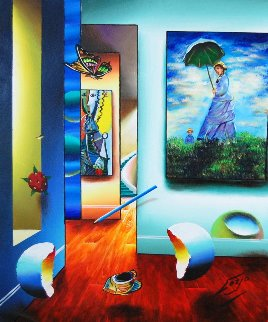 Picasso's Secret Hallway 2012 24x20 Original Painting - (Fernando de Jesus Oliviera) Ferjo