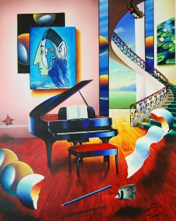 Delightful Playing 2012 27x33 Original Painting by (Fernando de Jesus Oliviera) Ferjo