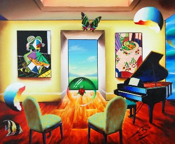Waiting For the Music 27x33 Original Painting - (Fernando de Jesus Oliviera) Ferjo