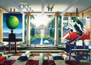 Magic Garden 2003  Huge 50x36 Limited Edition Print - (Fernando de Jesus Oliviera) Ferjo