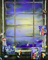 Blue Skies 2009 48x38 Super Huge Original Painting by (Fernando de Jesus Oliviera) Ferjo - 0