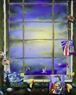 Blue Skies 2009 48x38 Original Painting by (Fernando de Jesus Oliviera) Ferjo