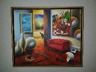 Untitled Interior Painting 22x26 Original Painting by (Fernando de Jesus Oliviera) Ferjo - 1