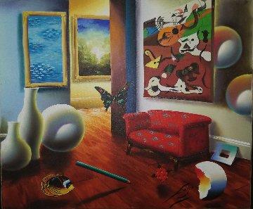 Untitled Interior 22x26 Original Painting - (Fernando de Jesus Oliviera) Ferjo