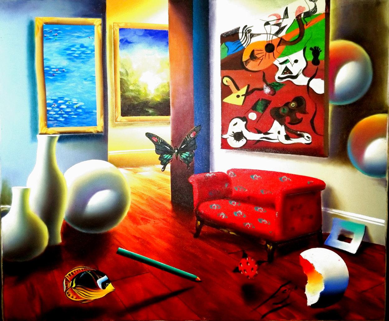 Untitled Interior Painting 22x26 Original Painting by (Fernando de Jesus Oliviera) Ferjo