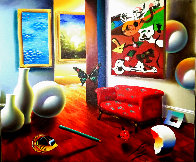Untitled Interior Painting 22x26 Original Painting by (Fernando de Jesus Oliviera) Ferjo - 0