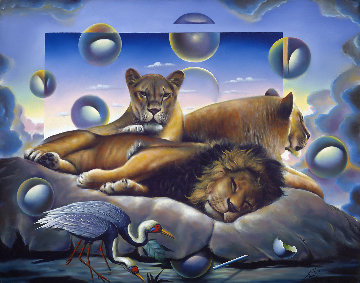 Royal Family 1998 40x52 Original Painting by (Fernando de Jesus Oliviera) Ferjo