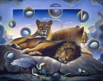 Royal Family 1998 40x52 Original Painting - (Fernando de Jesus Oliviera) Ferjo