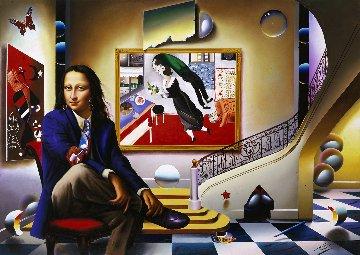 Mona With Chagall  2005  Limited Edition Print - (Fernando de Jesus Oliviera) Ferjo