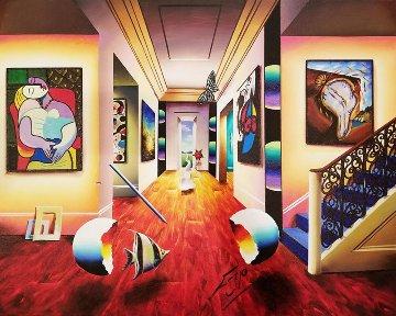 Dali Stairway 2016 24x30 Original Painting - (Fernando de Jesus Oliviera) Ferjo