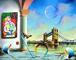 Londres 2018 16x20 Original Painting - (Fernando de Jesus Oliviera) Ferjo