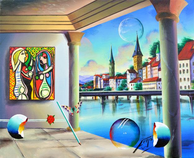 Zurich 2018 16x20 Original Painting by (Fernando de Jesus Oliviera) Ferjo