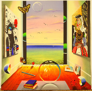 Magic Ball 2000 40x40 Super Huge Original Painting - (Fernando de Jesus Oliviera) Ferjo