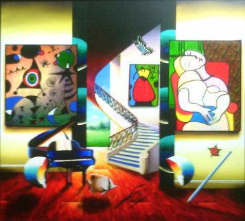 Whispers of a Dream 27x27 Original Painting by (Fernando de Jesus Oliviera) Ferjo