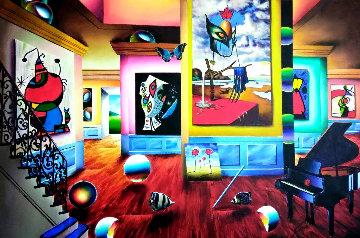 Untitled (Interior) Painting 2002 30x60 Original Painting - (Fernando de Jesus Oliviera) Ferjo