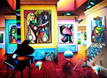 Untitled Interior Painting 2002 40x50 Original Painting - (Fernando de Jesus Oliviera) Ferjo
