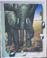 Elephants 2018 40x35 Huge Original Painting by (Fernando de Jesus Oliviera) Ferjo - 2