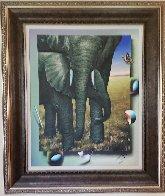 Elephants 2018 40x35 Huge Original Painting by (Fernando de Jesus Oliviera) Ferjo - 1