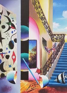 Climb to the Top 2019 25x21 Original Painting by (Fernando de Jesus Oliviera) Ferjo