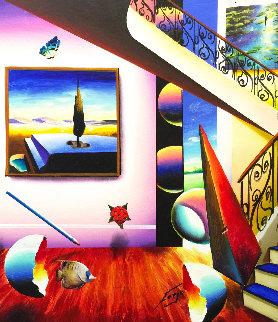 Surrealist Room 24x20 Original Painting - (Fernando de Jesus Oliviera) Ferjo