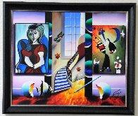 Window to Happiness 2014 26x30 Original Painting by (Fernando de Jesus Oliviera) Ferjo - 1