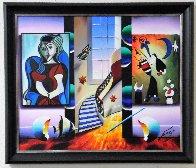 Window to Happiness 2014 26x30 Original Painting by (Fernando de Jesus Oliviera) Ferjo - 2