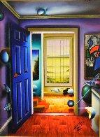 Blue Door/Homage to Miro 36x46 Super Huge Original Painting by (Fernando de Jesus Oliviera) Ferjo - 3