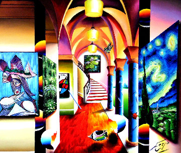 Vision of Loveliness 2016 45x53 Super Huge Original Painting - (Fernando de Jesus Oliviera) Ferjo