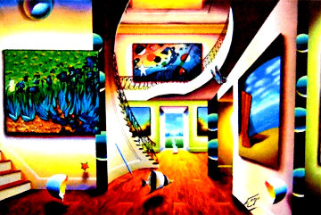 Magnificent Room With Masters 2016 44x64 Super Huge Original Painting - (Fernando de Jesus Oliviera) Ferjo