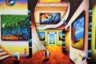 Magnificent Room With Masters 2016 44x64 Huge Original Painting by (Fernando de Jesus Oliviera) Ferjo - 1