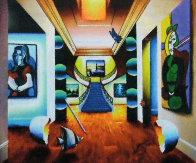 Untitled (Interior with Picasso) 30x36 Original Painting by (Fernando de Jesus Oliviera) Ferjo - 0