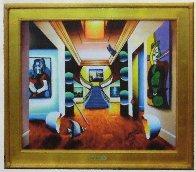 Untitled (Interior with Picasso) 30x36 Original Painting by (Fernando de Jesus Oliviera) Ferjo - 1