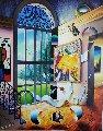 Garden View 30x24 Original Painting - (Fernando de Jesus Oliviera) Ferjo