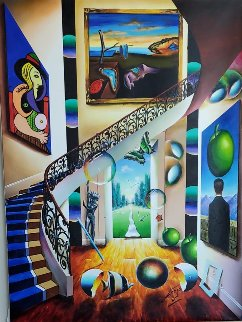 Untitled (Staircase) 2005 40x30 Original Painting - (Fernando de Jesus Oliviera) Ferjo