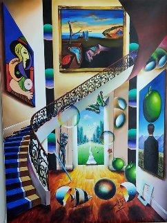 Untitled (Staircase) 2005 40x30 Huge Original Painting - (Fernando de Jesus Oliviera) Ferjo