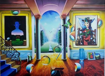 Untitled (Interior With Picasso) 2005 30x40 Huge Original Painting - (Fernando de Jesus Oliviera) Ferjo