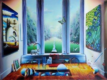 Cats' Fun Time 2005 48x36 Original Painting - (Fernando de Jesus Oliviera) Ferjo