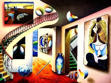 Gazing Picasso 1990 39x49 Super Huge Original Painting - (Fernando de Jesus Oliviera) Ferjo