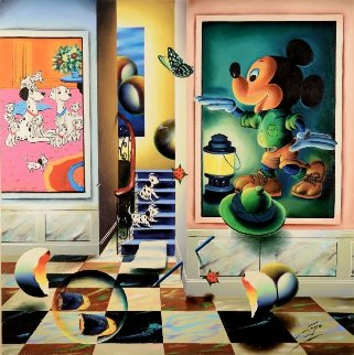 Homage to Mickey Mouse 2009  40x40 Disney Original Painting - (Fernando de Jesus Oliviera) Ferjo