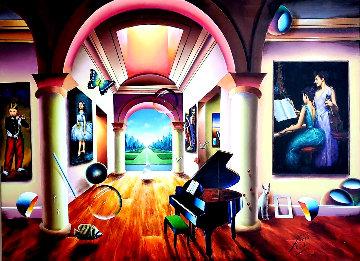 Musical Afternoon 2020 36x48 Original Painting - (Fernando de Jesus Oliviera) Ferjo