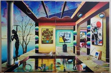 Diptych Reflection 2020 40x60 Original Painting by (Fernando de Jesus Oliviera) Ferjo